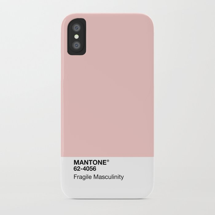mantone fragile masculinity iphone case