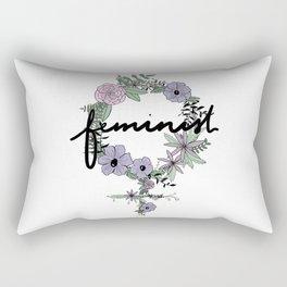 Feminist - in color Rectangular Pillow