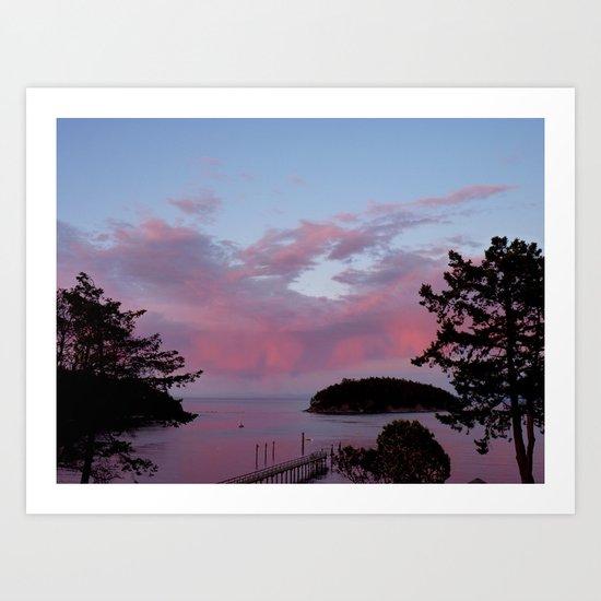 Rose Sunset  Art Print