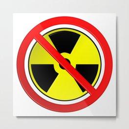 No Nuclear Symbol Metal Print