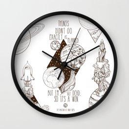 Martian - It's a Win Wall Clock