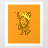 Notorious PIG Art Print