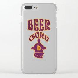 beer guru - I love beer Clear iPhone Case