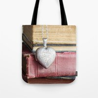 college Tote Bags featuring College Romance by Colleen Farrell