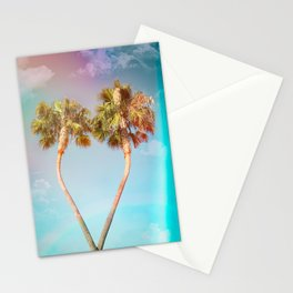 Lovers Palm Trees  {Rainbow Edition} with Light leak Stationery Cards