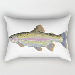 Rainbow Trout & Fly Rectangular Pillow