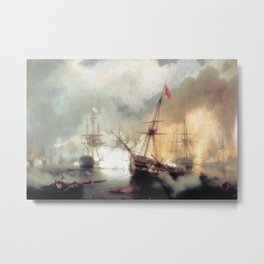Ivan Aivazovsky - Battle of Navarino Metal Print