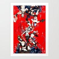 kill la kill Art Prints featuring Kill la Kill by Mari