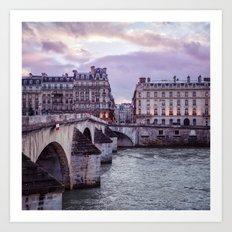 Le Pont Royal, Paris. Art Print