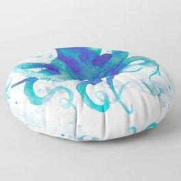Octopus Watercolor Floor Pillow