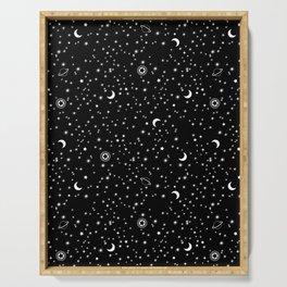 Black Space Theme Serving Tray