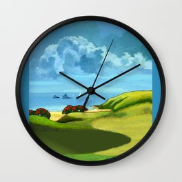 A Hot Day's Boating Wall Clock