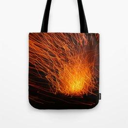 Golden Firework Tote Bag
