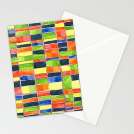 Warm Spring Time Grid Stationery Cards