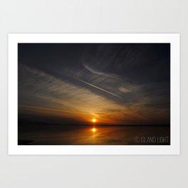 Sunset in Sequim, Washington Art Print