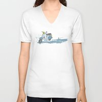 vespa V-neck T-shirts featuring Vespa by mtheb