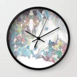 Watercolor Horse Illustration by McKenna Sendall Wall Clock