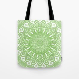Light Lime Green Mandala Simple Minimal Minimalistic Tote Bag