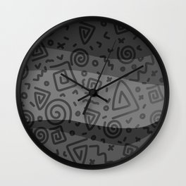 ETHNO PATTERN Modern | grey Wall Clock