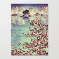 sunset Canvas Prints featuring Watching Kukuyediyo by Kijiermono