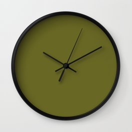 Colors of Autumn Pine Dark Green Solid Color Wall Clock
