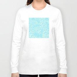 Forget Me Knot - Little Flowers on aqua Long Sleeve T-shirt