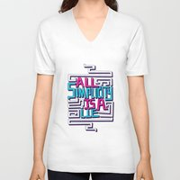 risa rodil V-neck T-shirts featuring All Simplicity is a Lie by Risa Rodil
