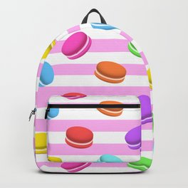 Happy macaron pattern Backpack