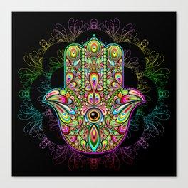 Hamsa Hand Amulet Psychedelic Canvas Print