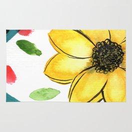 Flower Illustration 2 Rug