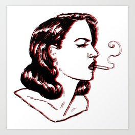 noir night Art Print