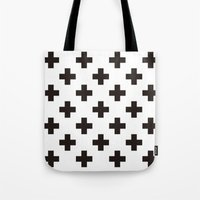 positive Tote Bags featuring Positive by Small Comforts