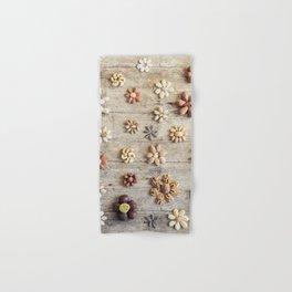 Dried fruits arranged forming flowers (4) Hand & Bath Towel