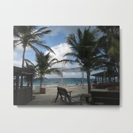 St. Maarten Tropical View Metal Print