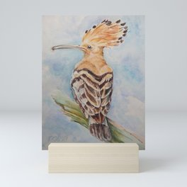 Hoopoe Bird Wildlife watercolor painting Pastel colors decor nature painting Mini Art Print