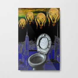 The Left Opened Toilet Seat (aka The Scream) Metal Print