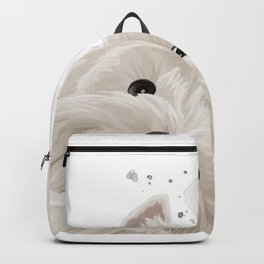 Curious West Highland White Terrier Dog  Backpack