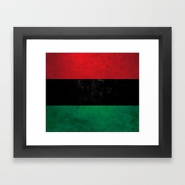 Distressed Afro-American / Pan-African / UNIA flag Framed Art Print