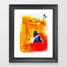 Study for Figure at the Base of a Crucifixion #3 Framed Art Print