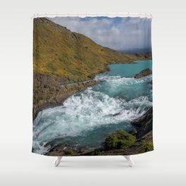 Glacial River Patagonia Shower Curtain