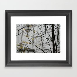 Seattle, yellow and white city Framed Art Print