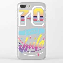 Great Present Idea for 70th Birthday Party Ideal Gift print Clear iPhone Case