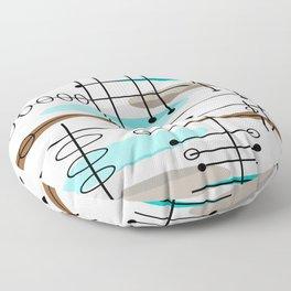 Mid-Century Modern Atomic Inspired Floor Pillow