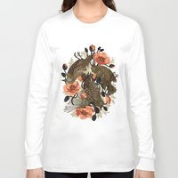 creepy Long Sleeve T-shirts featuring Spangled & Plumed by Teagan White