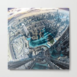 View from the tallest building in the world, the Burj Khalifa in Dubai Metal Print