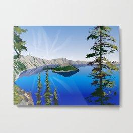 Crater Lake Metal Print