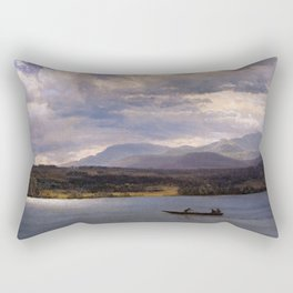 Overlook Mountain From Olana By Albert Bierstadt | Reproduction Painting Rectangular Pillow