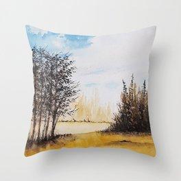Across the Field Throw Pillow