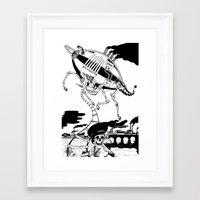 led zeppelin Framed Art Prints featuring Zeppelin by Saskia Juliette