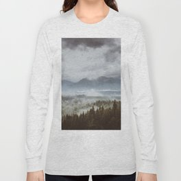 Misty mountains - Landscape and Nature Photography Long Sleeve T-shirt